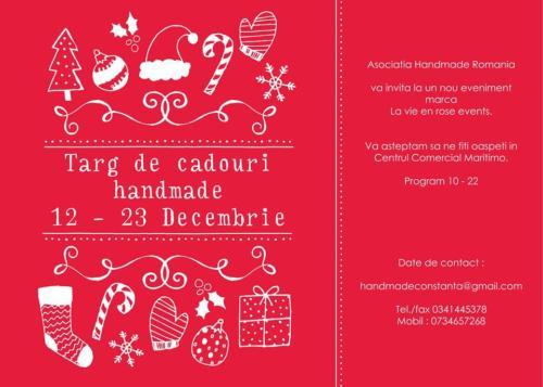 Targ de cadouri handmade 12 - 23 dec 2013