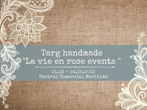 Targ handmade - La vie en Rose - 21 - 24 mai 2015