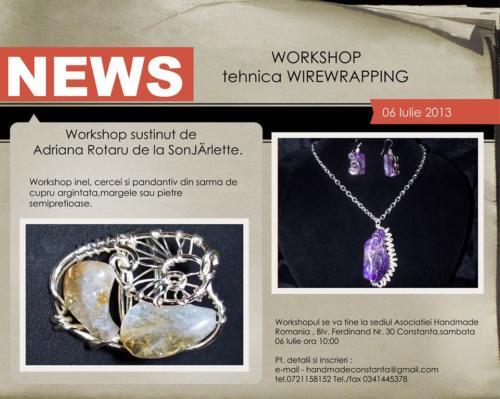 Workshop - 06 iulie 2013